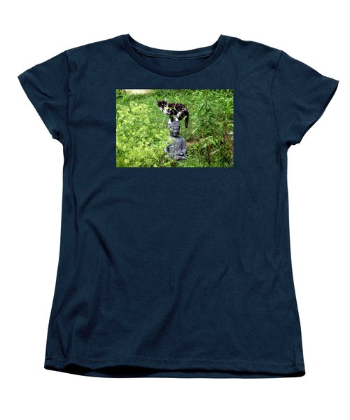 Women's T-Shirt (Standard Cut) featuring the photograph Buddha And Friend by Cynthia Lassiter