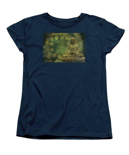 Buddha Light Gold Women's T-Shirt (Standard Cut) by Hannes Cmarits