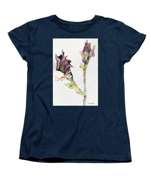 Budding Irises Women's T-Shirt (Standard Cut) by Mindy Newman