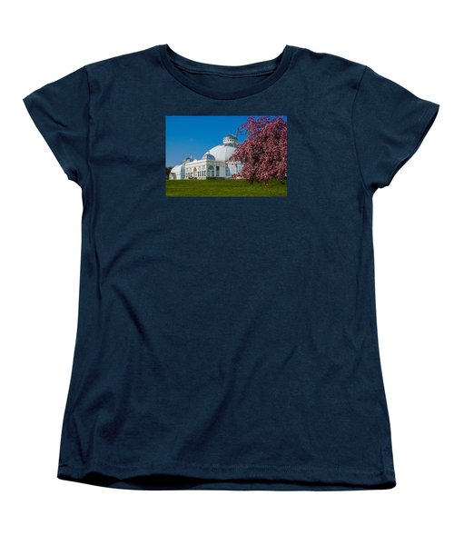 Women's T-Shirt (Standard Cut) featuring the photograph Buffalo Botanical Gardens North Lawns by Don Nieman