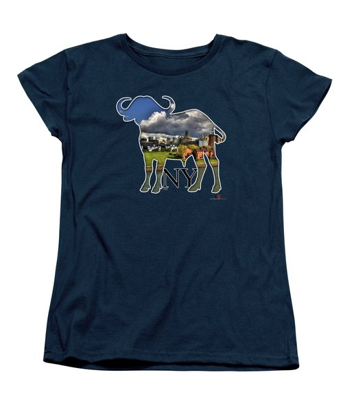 Buffalo Ny Along The Marina Women's T-Shirt (Standard Cut) by Michael Frank Jr