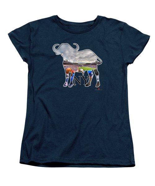 Buffalo Ny Bills Game Women's T-Shirt (Standard Cut) by Michael Frank Jr