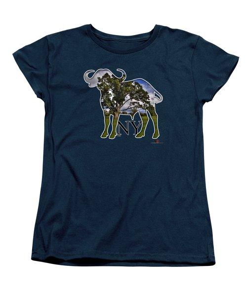 Buffalo Ny Delaware Park Women's T-Shirt (Standard Cut) by Michael Frank Jr