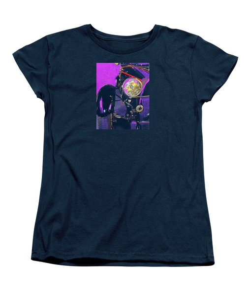 Bugatti Abstract Purple Women's T-Shirt (Standard Cut) by Walter Fahmy