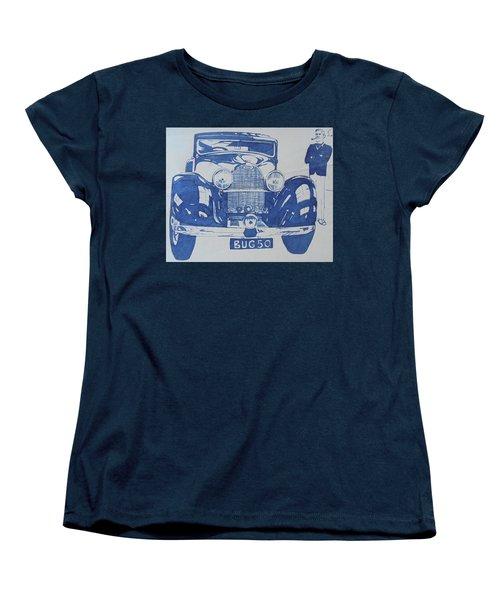 Women's T-Shirt (Standard Cut) featuring the drawing Bugatti by Mike Jeffries