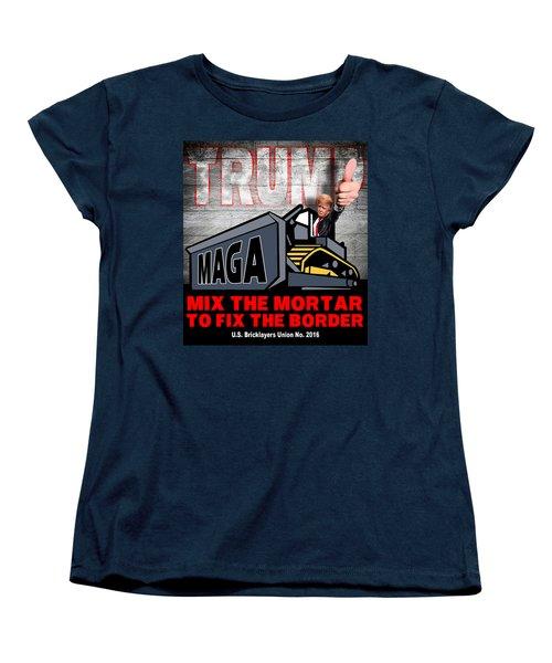 Build The Wall Women's T-Shirt (Standard Cut) by Don Olea