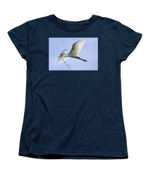 Women's T-Shirt (Standard Cut) featuring the photograph Building A Home by Gary Wightman
