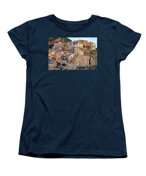 Women's T-Shirt (Standard Cut) featuring the photograph Built On The Slope by Frozen in Time Fine Art Photography