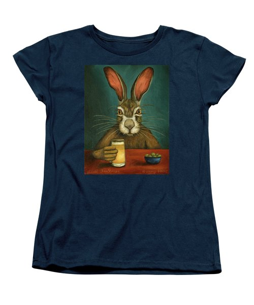 Bunny Hops Women's T-Shirt (Standard Cut) by Leah Saulnier The Painting Maniac