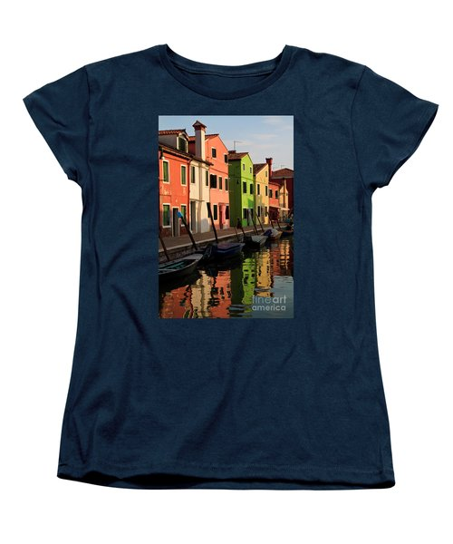 Women's T-Shirt (Standard Cut) featuring the photograph Burano Reflections by Dennis Hedberg
