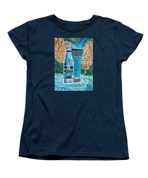 Women's T-Shirt (Standard Cut) featuring the painting Burr Hyfe Gone Real Cold by Connie Valasco