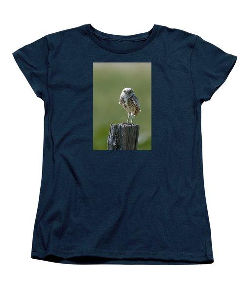 Women's T-Shirt (Standard Cut) featuring the photograph Burrowing Owl by Gary Lengyel