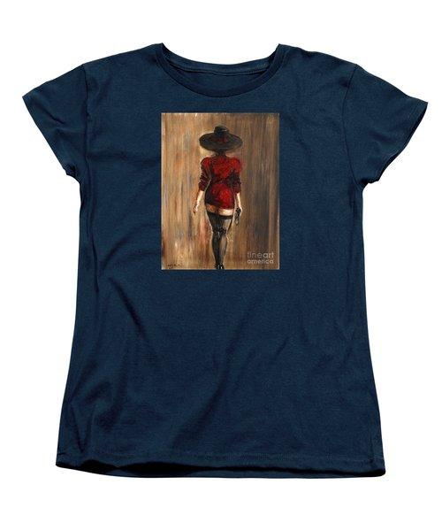 Business Lady Women's T-Shirt (Standard Cut) by Arturas Slapsys