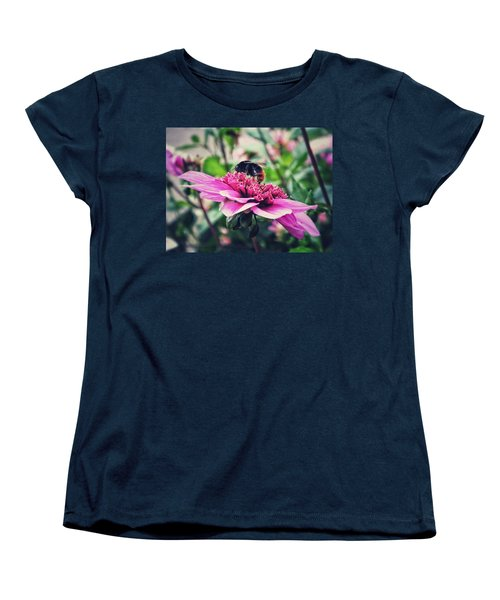 Women's T-Shirt (Standard Cut) featuring the photograph Busy, Busy Bee by Karen Stahlros