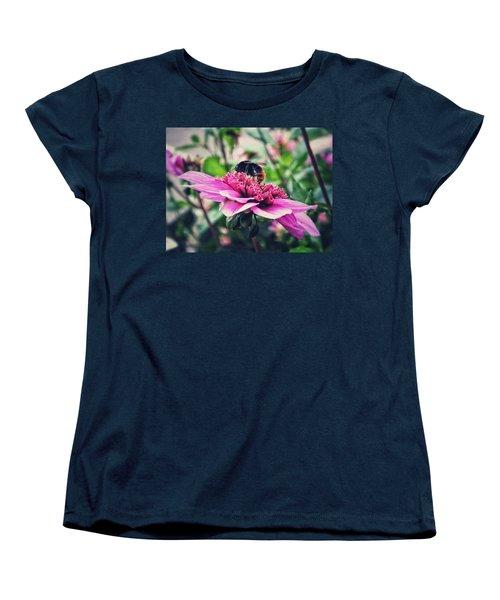Busy, Busy Bee Women's T-Shirt (Standard Cut) by Karen Stahlros