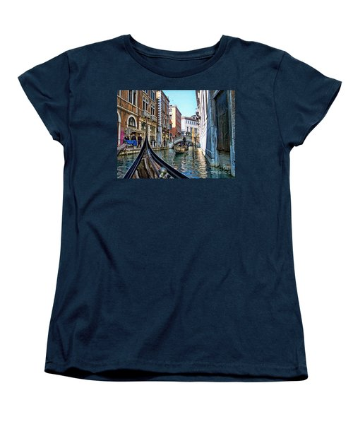 Women's T-Shirt (Standard Cut) featuring the photograph Busy Canal by Roberta Byram