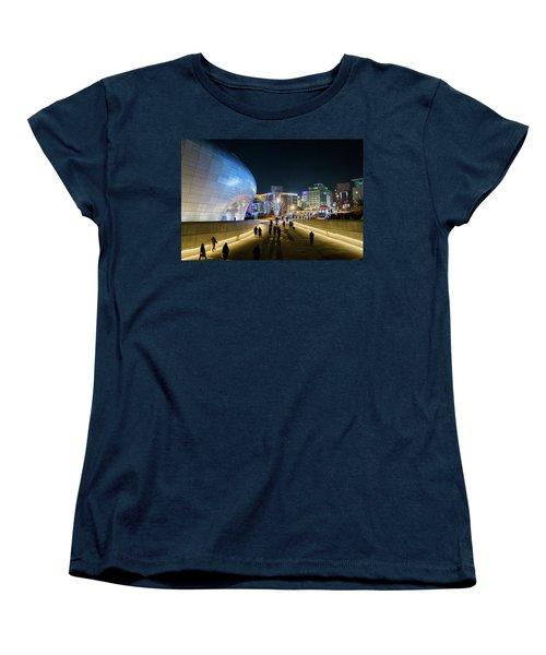 Busy Night Women's T-Shirt (Standard Cut) by Hyuntae Kim