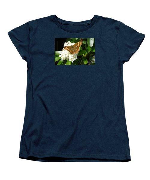 Women's T-Shirt (Standard Cut) featuring the photograph Butterfly 1 by Jean Bernard Roussilhe