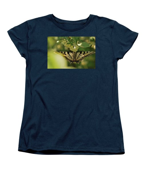 Women's T-Shirt (Standard Cut) featuring the photograph Butterfly From Another Side by Susan Capuano