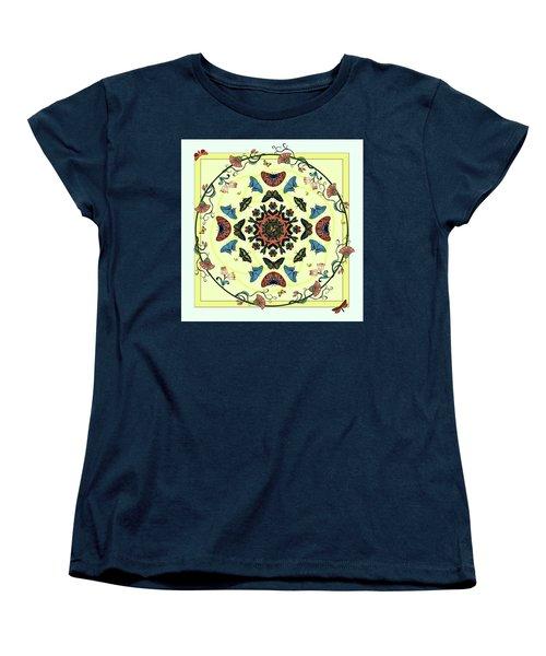 Women's T-Shirt (Standard Cut) featuring the digital art Butterfly Garden Abstract by Deborah Smith