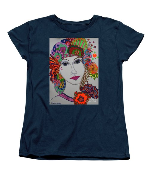 Butterfly Girl Women's T-Shirt (Standard Cut) by Alison Caltrider