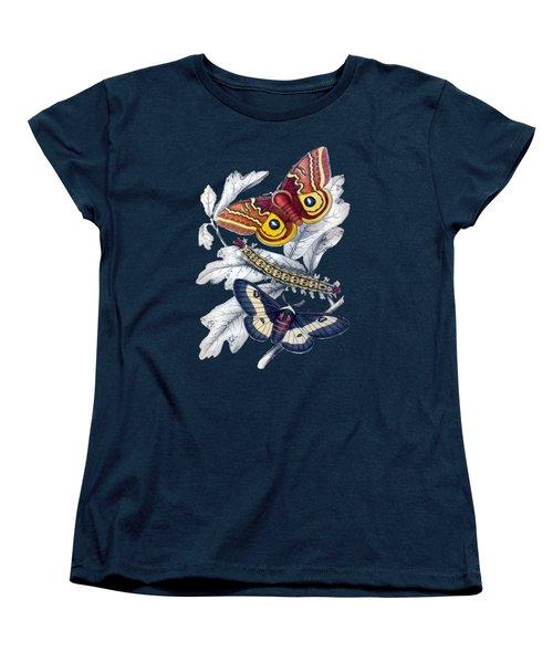 Women's T-Shirt (Standard Cut) featuring the digital art Butterfly Moth T Shirt Design by Bellesouth Studio