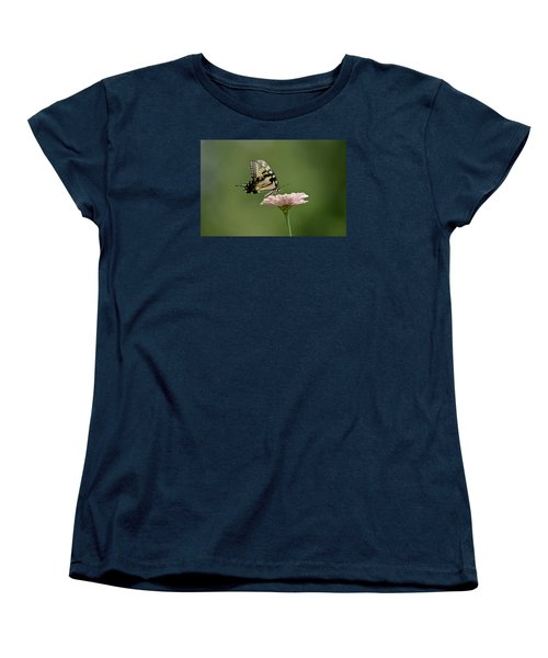 Butterfly On Zinnia Women's T-Shirt (Standard Cut)
