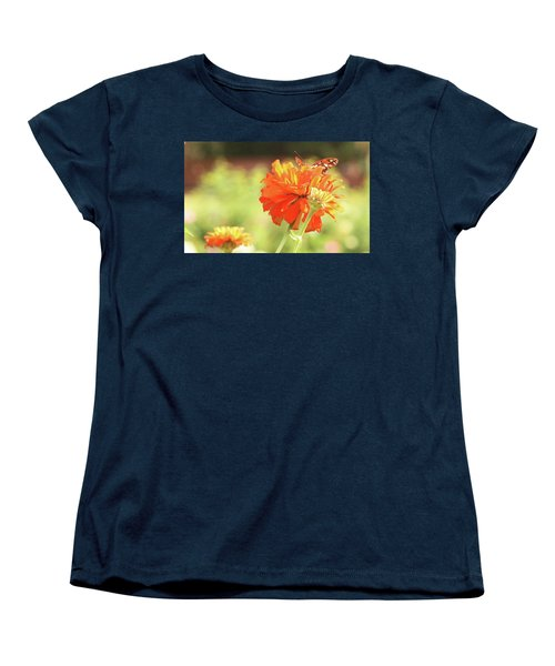 Butterfly Peek-a-boo Women's T-Shirt (Standard Cut) by Donna G Smith