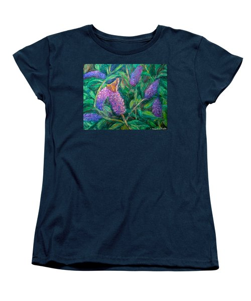 Women's T-Shirt (Standard Cut) featuring the painting Butterfly View by Kendall Kessler