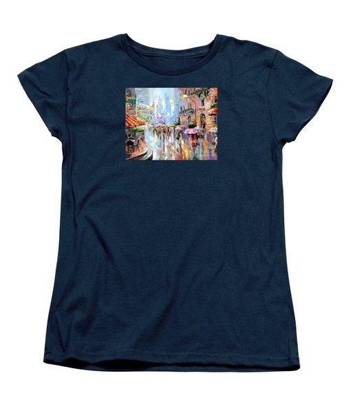 Buzy City Streets Women's T-Shirt (Standard Cut) by Tim Gilliland