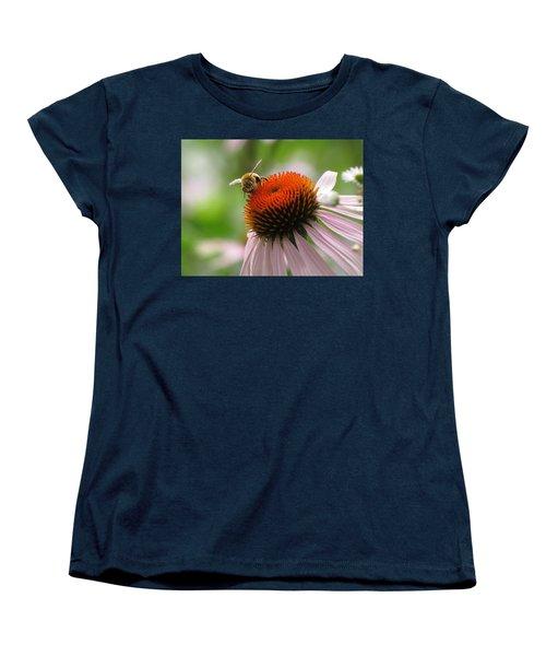 Women's T-Shirt (Standard Cut) featuring the photograph Buzzing The Coneflower by Kimberly Mackowski