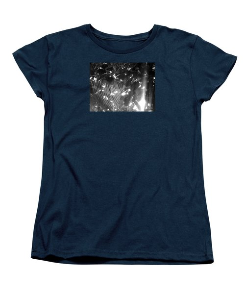 Women's T-Shirt (Standard Cut) featuring the photograph Bw Shadow Threads by Megan Dirsa-DuBois