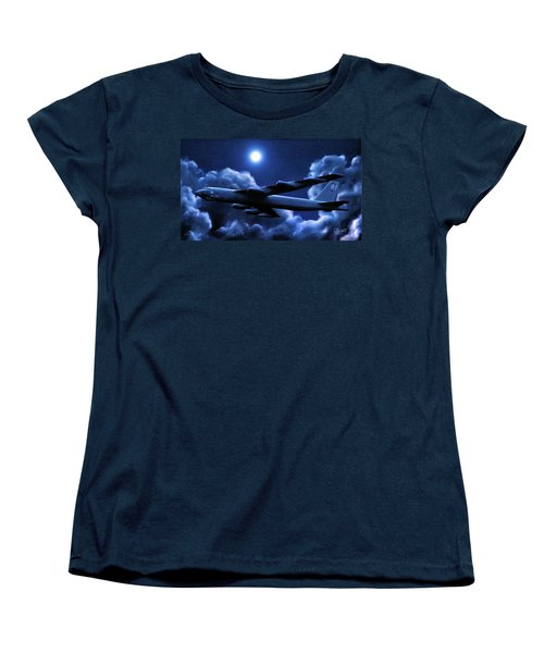 Women's T-Shirt (Standard Cut) featuring the painting By The Light Of The Blue Moon by Dave Luebbert