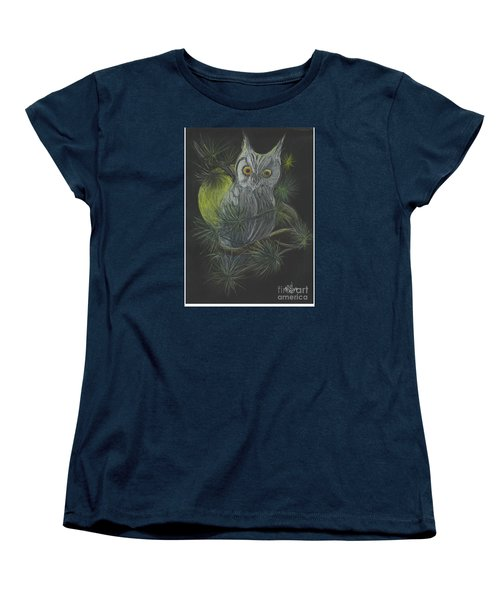 Women's T-Shirt (Standard Cut) featuring the drawing By The Light Of The Moon by Carol Wisniewski