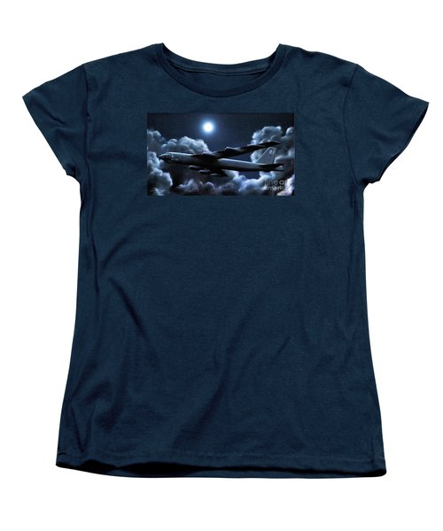 Women's T-Shirt (Standard Cut) featuring the painting By The Light Of The Silvery Moon by Dave Luebbert