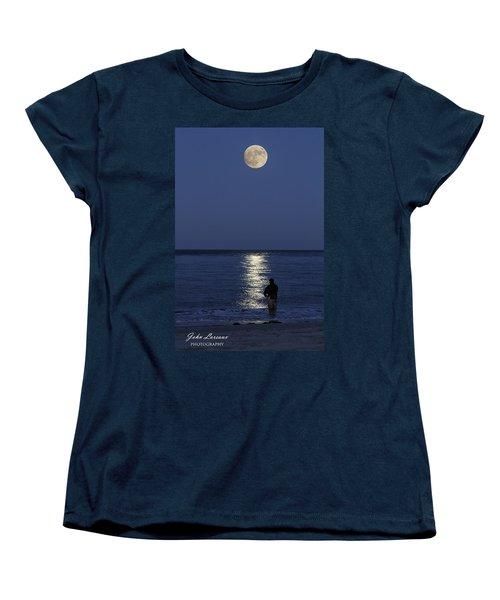 By The Light Of The Supermoon Women's T-Shirt (Standard Cut) by John Loreaux