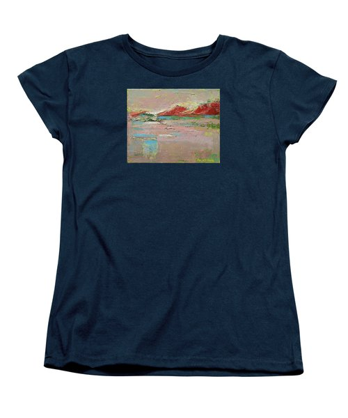 Women's T-Shirt (Standard Cut) featuring the painting By The River by Becky Kim