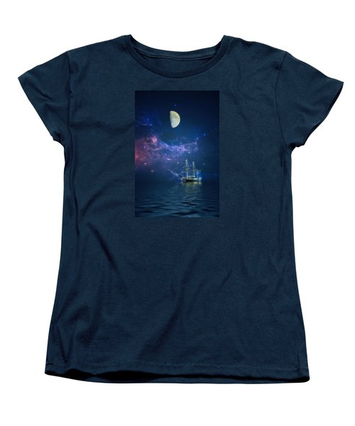 By Way Of The Moon And Stars Women's T-Shirt (Standard Cut) by John Rivera