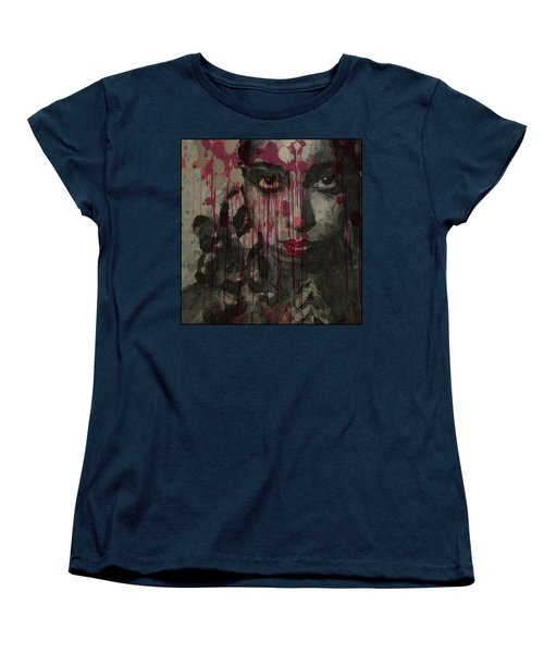 Women's T-Shirt (Standard Cut) featuring the painting Bye Bye Blackbird by Paul Lovering