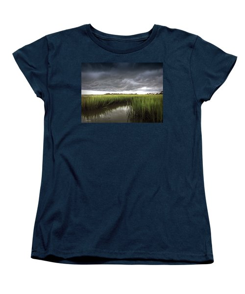 Women's T-Shirt (Standard Cut) featuring the photograph Cabbage Inlet Cold Front by Phil Mancuso