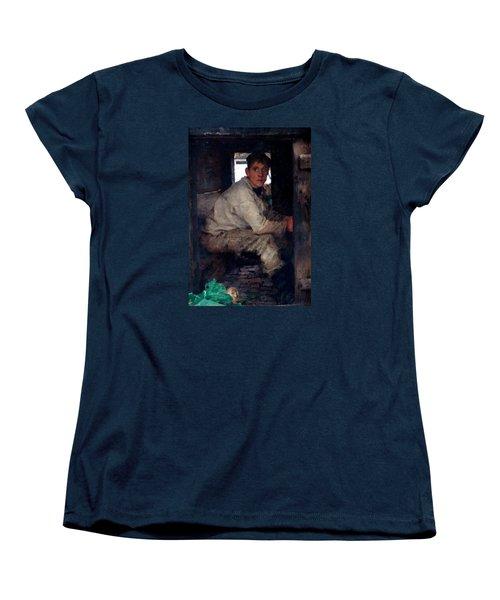 Cabin Boy Women's T-Shirt (Standard Cut) by Henry Scott Tuke