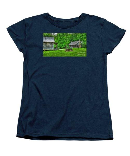 Women's T-Shirt (Standard Cut) featuring the photograph Cabin Fever Great Smoky Mountains Art by Reid Callaway