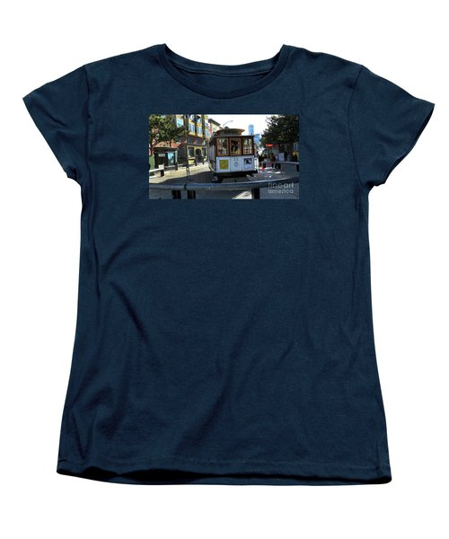 Women's T-Shirt (Standard Cut) featuring the photograph Cable Car Turnaround by Steven Spak