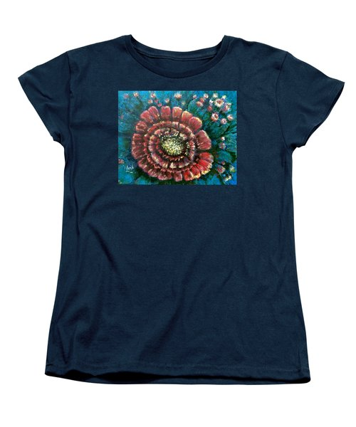 Women's T-Shirt (Standard Cut) featuring the painting Cactus # 2 by Laila Awad Jamaleldin