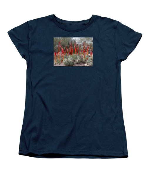 Cactus And Glass Women's T-Shirt (Standard Cut) by Elvira Butler