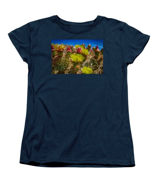 Women's T-Shirt (Standard Cut) featuring the digital art Cactus At The End Of The Road by Bartz Johnson
