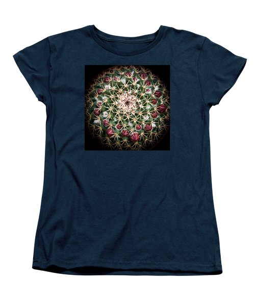 Women's T-Shirt (Standard Cut) featuring the photograph Cactus  Flower by Catherine Lau