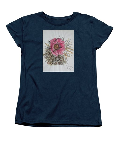 Women's T-Shirt (Standard Cut) featuring the painting Cactus Joy by Sharyn Winters