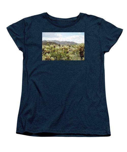 Cactus Paradise Women's T-Shirt (Standard Cut) by Amyn Nasser