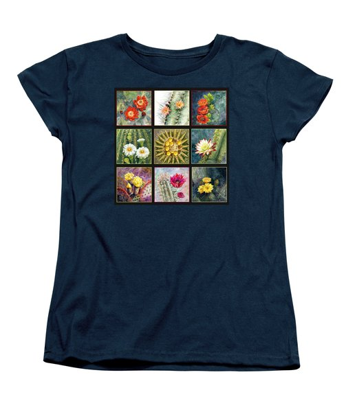 Women's T-Shirt (Standard Cut) featuring the painting Cactus Series by Marilyn Smith